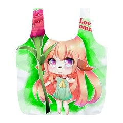 Happy Mother s Day Furry Girl Full Print Recycle Bags (L)