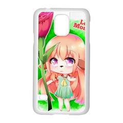 Happy Mother s Day Furry Girl Samsung Galaxy S5 Case (White)