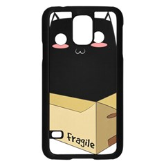 Black Cat in a Box Samsung Galaxy S5 Case (Black)