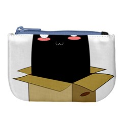 Black Cat In A Box Large Coin Purse