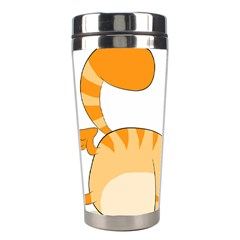 Even Cat Hates Monday Stainless Steel Travel Tumblers