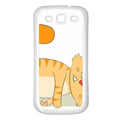 Even Cat Hates Monday Samsung Galaxy S3 Back Case (White)