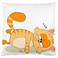 Even Cat Hates Monday Large Flano Cushion Case (Two Sides)