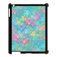 Flamingo pattern Apple iPad 3/4 Case (Black)