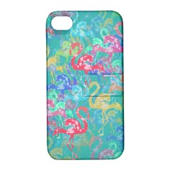 Flamingo pattern Apple iPhone 4/4S Hardshell Case with Stand