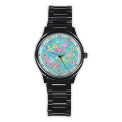 Flamingo pattern Stainless Steel Round Watch