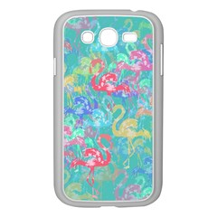 Flamingo pattern Samsung Galaxy Grand DUOS I9082 Case (White)