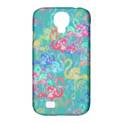 Flamingo pattern Samsung Galaxy S4 Classic Hardshell Case (PC+Silicone)