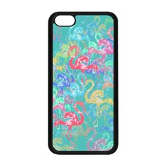 Flamingo pattern Apple iPhone 5C Seamless Case (Black)