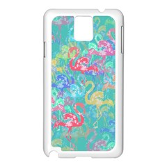 Flamingo pattern Samsung Galaxy Note 3 N9005 Case (White)