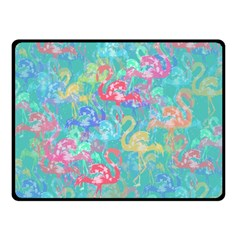 Flamingo pattern Double Sided Fleece Blanket (Small)