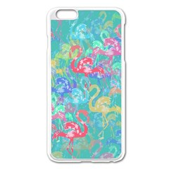 Flamingo pattern Apple iPhone 6 Plus/6S Plus Enamel White Case