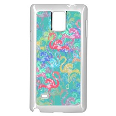 Flamingo pattern Samsung Galaxy Note 4 Case (White)