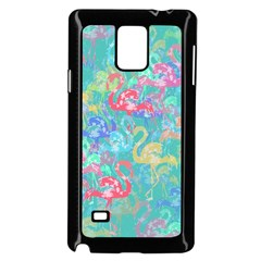 Flamingo pattern Samsung Galaxy Note 4 Case (Black)