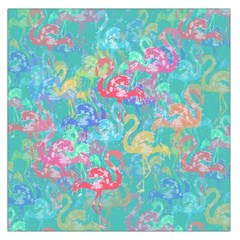 Flamingo pattern Large Satin Scarf (Square)