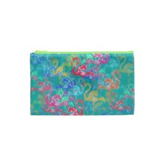 Flamingo pattern Cosmetic Bag (XS)