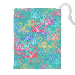Flamingo pattern Drawstring Pouches (XXL)
