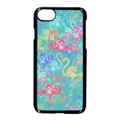 Flamingo pattern Apple iPhone 7 Seamless Case (Black)