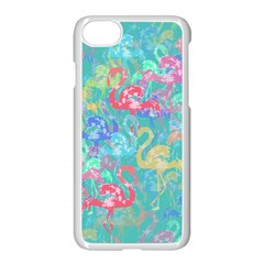 Flamingo pattern Apple iPhone 7 Seamless Case (White)