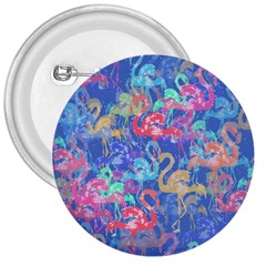 Flamingo pattern 3  Buttons