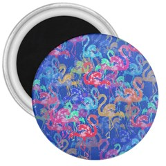 Flamingo pattern 3  Magnets