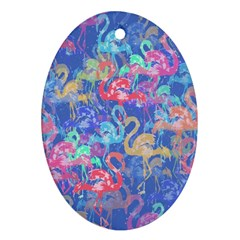 Flamingo pattern Ornament (Oval)