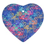 Flamingo pattern Ornament (Heart) Front