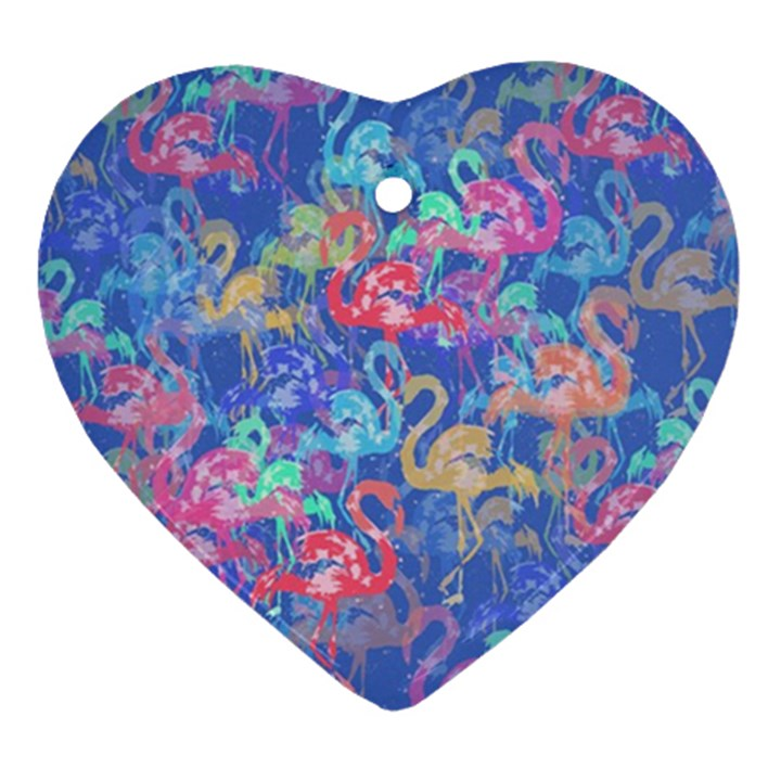 Flamingo pattern Ornament (Heart)