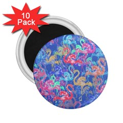 Flamingo pattern 2.25  Magnets (10 pack)