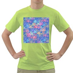 Flamingo pattern Green T-Shirt