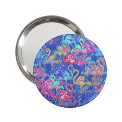 Flamingo pattern 2.25  Handbag Mirrors
