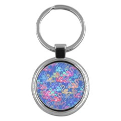 Flamingo pattern Key Chains (Round)