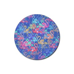 Flamingo pattern Rubber Coaster (Round)