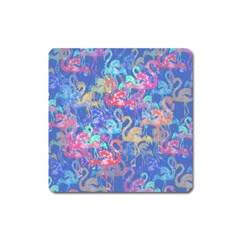 Flamingo pattern Square Magnet