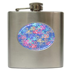 Flamingo pattern Hip Flask (6 oz)