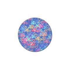 Flamingo pattern Golf Ball Marker (4 pack)