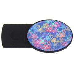Flamingo pattern USB Flash Drive Oval (1 GB)