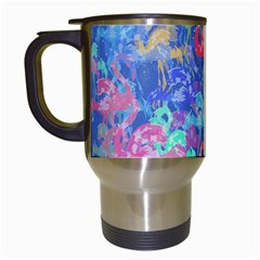 Flamingo pattern Travel Mugs (White)