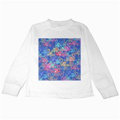 Flamingo pattern Kids Long Sleeve T-Shirts