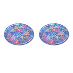 Flamingo pattern Cufflinks (Oval)