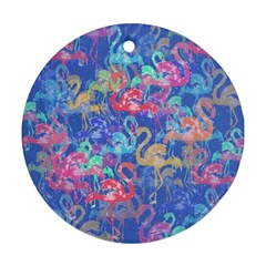 Flamingo pattern Round Ornament (Two Sides)