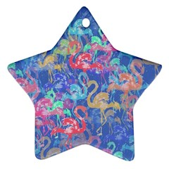 Flamingo pattern Star Ornament (Two Sides)
