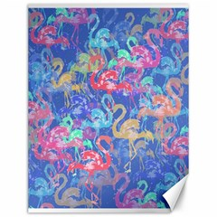 Flamingo pattern Canvas 12  x 16