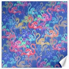 Flamingo pattern Canvas 16  x 16