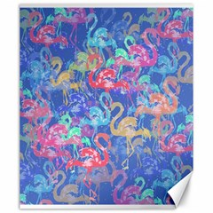 Flamingo pattern Canvas 20  x 24
