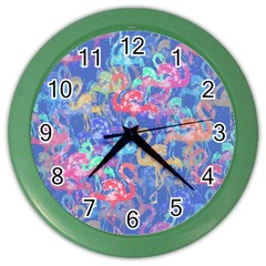 Flamingo pattern Color Wall Clocks