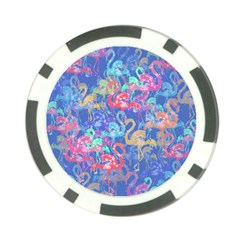 Flamingo pattern Poker Chip Card Guard
