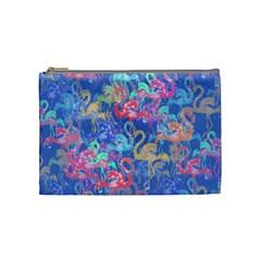 Flamingo pattern Cosmetic Bag (Medium)