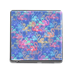 Flamingo pattern Memory Card Reader (Square)