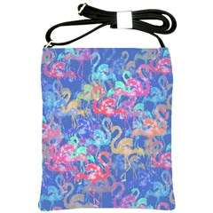 Flamingo pattern Shoulder Sling Bags